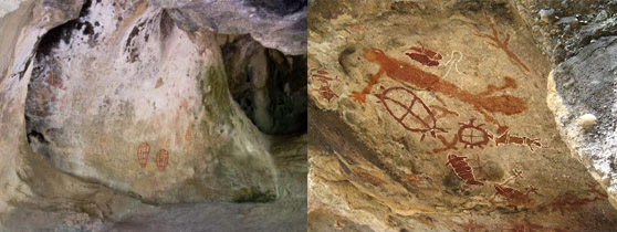 aboriginal cave paintings hook island whitsunday islands