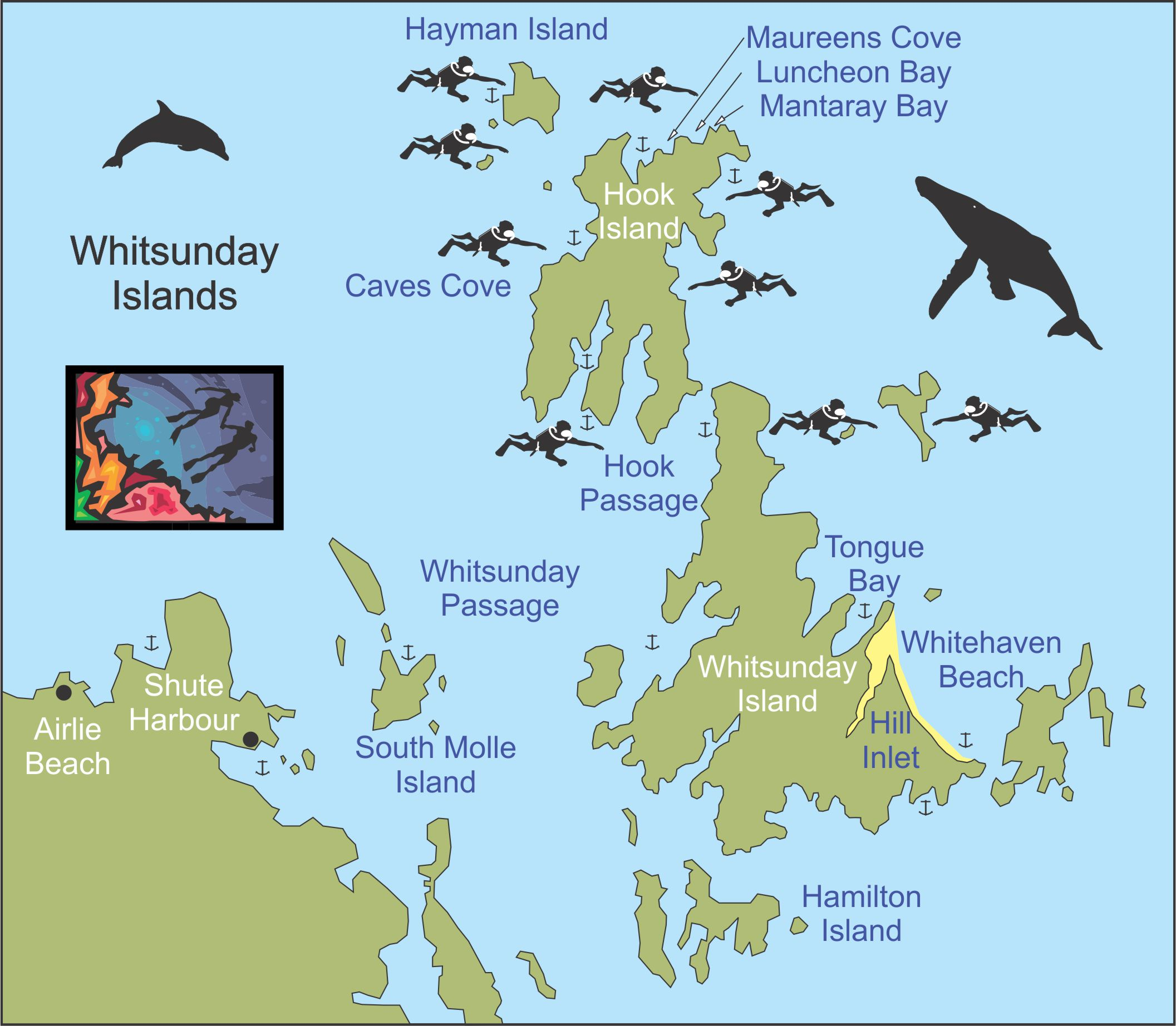 map of the whitsunday islands